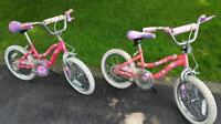Pair of Barbie bikes