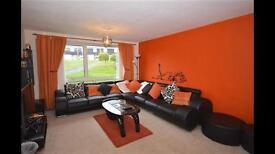 9 seater corner leather sofa (black)