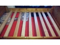 solid pine double bed frame No mattress