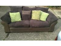 Beautiful & almost new 3 seater & 2 arm chairs RRP.£1,500