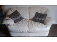 Cream are chair n two seater sofa
