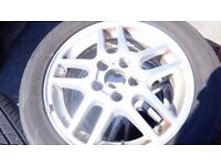 4 alloy wheels with tyres all in very good condition 205/55/R16