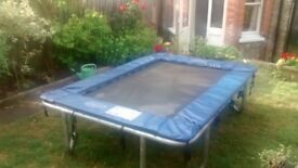 """Trampoline 7'7""""x 5'3""""x22"""" from trampolinesGB. Good quality and condition. £60. Collection only."""