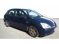 2002/52 REG HONDA CIVIC 1.6 VTEC SE EXECUTIVE ** LEATHERS + FAMILY CAR ** £ 795