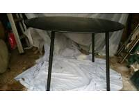 IKEA BLACK GLASS DINING TABLE