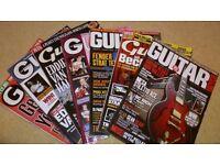 """""""GUITAR BUYER"""" MAGAZINES X 7 + CD's in cases"""