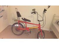 Original red Raleigh chopper bike