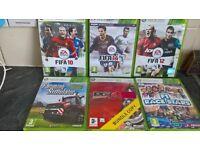 6 Xbox 360 Games (Fifa 10, 12, 14, Project Goth Racing 4, Farm simulator, All stars)