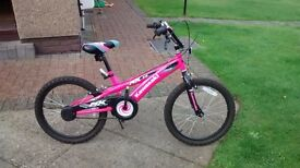 "Girls 20"" bike for sale exellent condition"