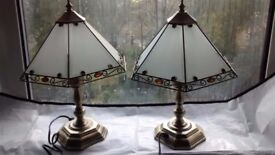 Matching Pair of Vintage Lamps (Brass)