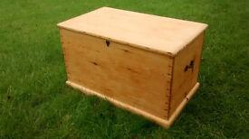Solid pine Victorian blanket box