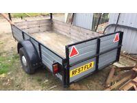 9x4 single axel trailer easy towed