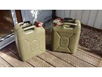 Fuel Cans - Military specification - 20 litres x 2