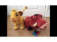 The lion king toys bundle, simba pumbaa
