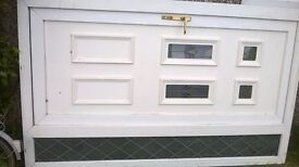 UPVC door with side panel