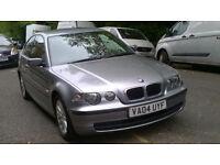 BMW 316ti ES COMPACT 2004 04 REG MET GREY 3 DOOR HATCHBACK 5 SPEED MANUAL PAS A/C 157K MILES SUPERB