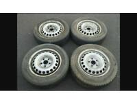 Vw t5 steel wheels and tyres 205/65/16 5x120