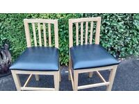 2 beach with leatherete cusion bar stools / breakfast bar Chairs / stools