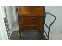 Antique writing bureau desk drawers cabinet in excellent condition central London bargain