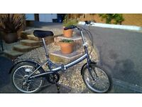 Raleigh Folding Bicycle, Very good condition, hardly used.