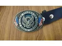 USA belt buckle with belt