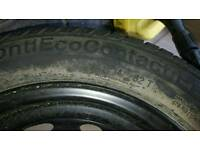 175 65 14 wheel and tyre. Used for 1 day only.