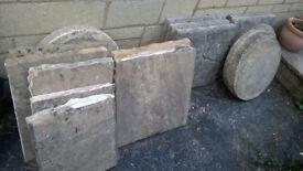 Selection of paving slabs -job lot