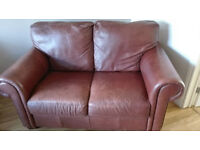 Two Leather sofas 1 large two seater 1 small two seater
