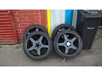 """MERCEDES AMG ALLOYS IN BLACK ! 19"""""""" SET OF 4 WITH TREYS"""