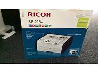 Ricoh SP 213w wireless mono A4 laser printer. BNIB