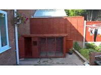 Fully Treated Weather protected Outside Dog house/Kennel With run