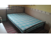 Super King Size Bed Frame ( Mattress for extra charge - small )