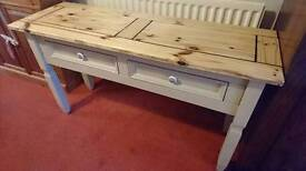 Solid Pine Painted Console Unit