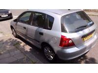 Honda civic 2003. Parts or repair. Running 106,000 miles