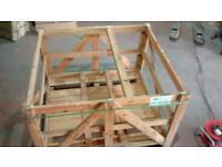 Compost bin wood frame, FREE. Old stone slab pallet crate in very good condition, good for garden.
