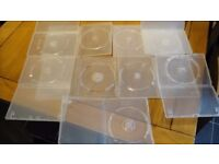 175 CLEAR RETAIL SINGLE DISC DVD CASES - USED BUT QUALITY BRANDED CASES AMARAY MAXELL ETC