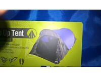 pop up 2 man tent and gas cooker