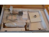 Exposed Thermostatic Bathroom Mixer Shower Twin Shower Head Square Chrome Valve