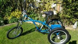 Chopper/mountainbike style tricycle