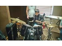 Yamaha 5 piece swing custom drum kit.