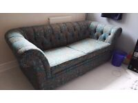 Chesterfield style 2 seater sofa bed