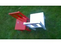 Ikea wooden chairs (red and white)
