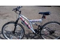 LADIES AND GENTS ADULT UNISEX DUEL SUSPENSION MOUNTAIN BIKE 20 INCH FRAME