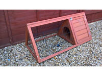 Rabbit run with shelter