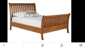 King Size Wooden Sleigh Bed