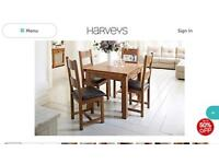 Toulouse Oak extending dining table a 4 solid wood chairs