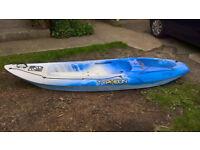typhoon sit on kayak