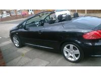 2005 peugeot 307CC BLACK WITH VERY LOW MILEAGE
