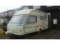 2 berth caravan with awning