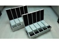 2 Mediarange Aluminium 1000 CD Storage Cases with Numbered Sleeves